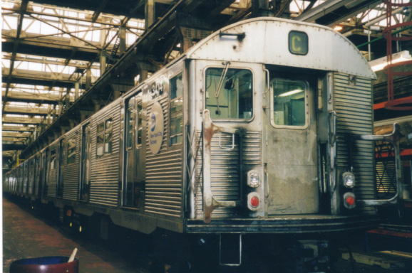 (116k, 578x384)<br><b>Country:</b> United States<br><b>City:</b> New York<br><b>System:</b> New York City Transit<br><b>Location:</b> 207th Street Shop<br><b>Car:</b> R-32 (Budd, 1964)  3414 <br><b>Photo by:</b> Al Voci<br><b>Date:</b> 2000<br><b>Viewed (this week/total):</b> 0 / 3662
