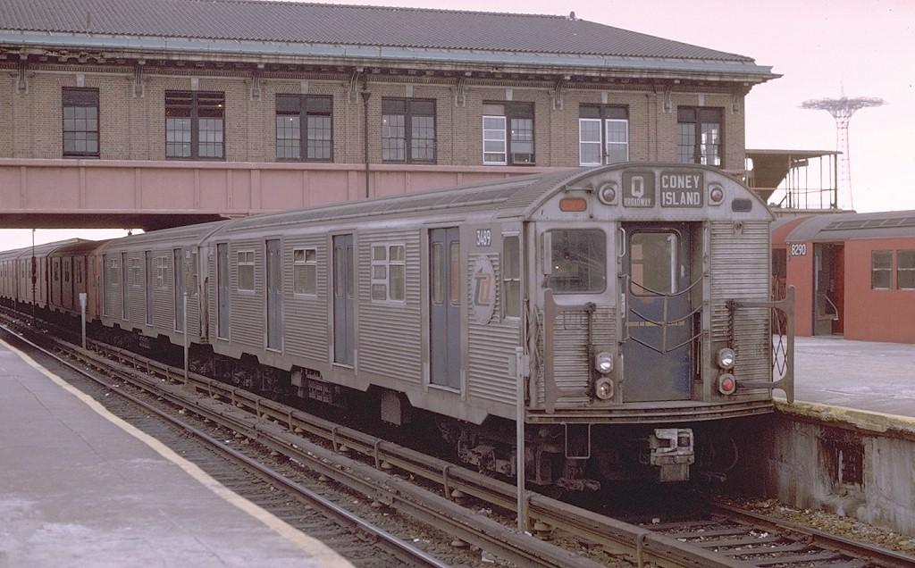 (195k, 1024x636)<br><b>Country:</b> United States<br><b>City:</b> New York<br><b>System:</b> New York City Transit<br><b>Location:</b> Coney Island/Stillwell Avenue<br><b>Route:</b> QJ<br><b>Car:</b> R-32 (Budd, 1964)  3489 <br><b>Photo by:</b> Joe Testagrose<br><b>Date:</b> 11/11/1969<br><b>Viewed (this week/total):</b> 1 / 3347