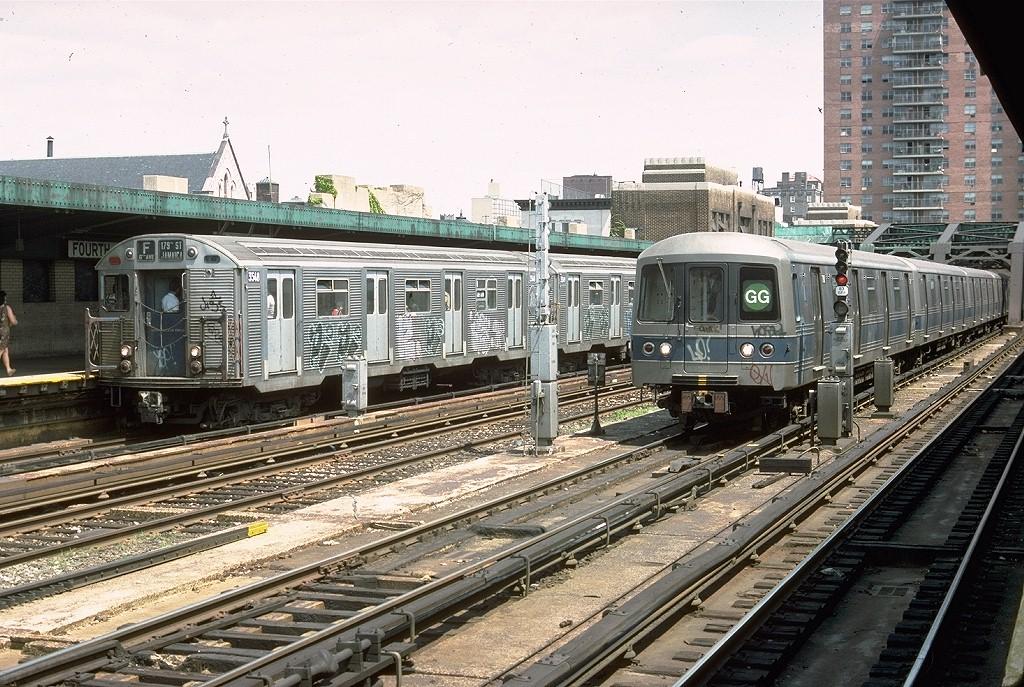 (273k, 1024x687)<br><b>Country:</b> United States<br><b>City:</b> New York<br><b>System:</b> New York City Transit<br><b>Line:</b> IND Crosstown Line<br><b>Location:</b> 4th Avenue <br><b>Route:</b> F<br><b>Car:</b> R-32 (Budd, 1964)  3548 <br><b>Photo by:</b> Doug Grotjahn<br><b>Collection of:</b> Joe Testagrose<br><b>Date:</b> 6/12/1977<br><b>Viewed (this week/total):</b> 6 / 6102