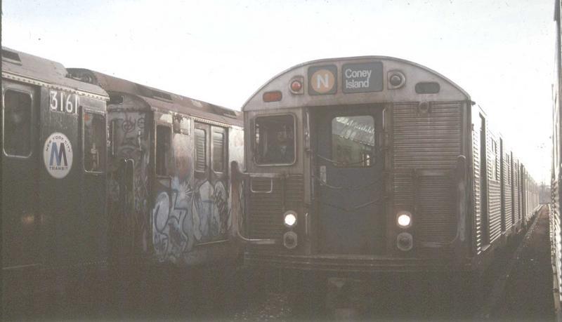 (40k, 800x459)<br><b>Country:</b> United States<br><b>City:</b> New York<br><b>System:</b> New York City Transit<br><b>Location:</b> Coney Island Yard<br><b>Car:</b> R-32 (Budd, 1964)  3588 <br><b>Photo by:</b> Glenn L. Rowe<br><b>Viewed (this week/total):</b> 0 / 4949