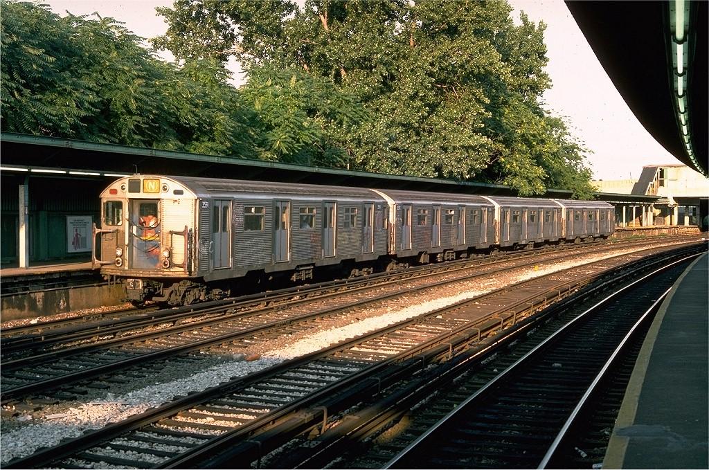 (324k, 1024x679)<br><b>Country:</b> United States<br><b>City:</b> New York<br><b>System:</b> New York City Transit<br><b>Line:</b> BMT Sea Beach Line<br><b>Location:</b> 8th Avenue <br><b>Route:</b> N<br><b>Car:</b> R-32 (Budd, 1964)  3591 <br><b>Collection of:</b> Joe Testagrose<br><b>Date:</b> 7/18/1976<br><b>Viewed (this week/total):</b> 0 / 4319