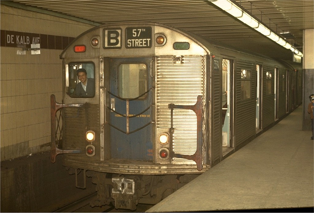 (184k, 1024x695)<br><b>Country:</b> United States<br><b>City:</b> New York<br><b>System:</b> New York City Transit<br><b>Location:</b> DeKalb Avenue<br><b>Route:</b> B<br><b>Car:</b> R-32 (Budd, 1964)  3594 <br><b>Photo by:</b> Joe Testagrose<br><b>Date:</b> 5/1/1970<br><b>Viewed (this week/total):</b> 0 / 4712