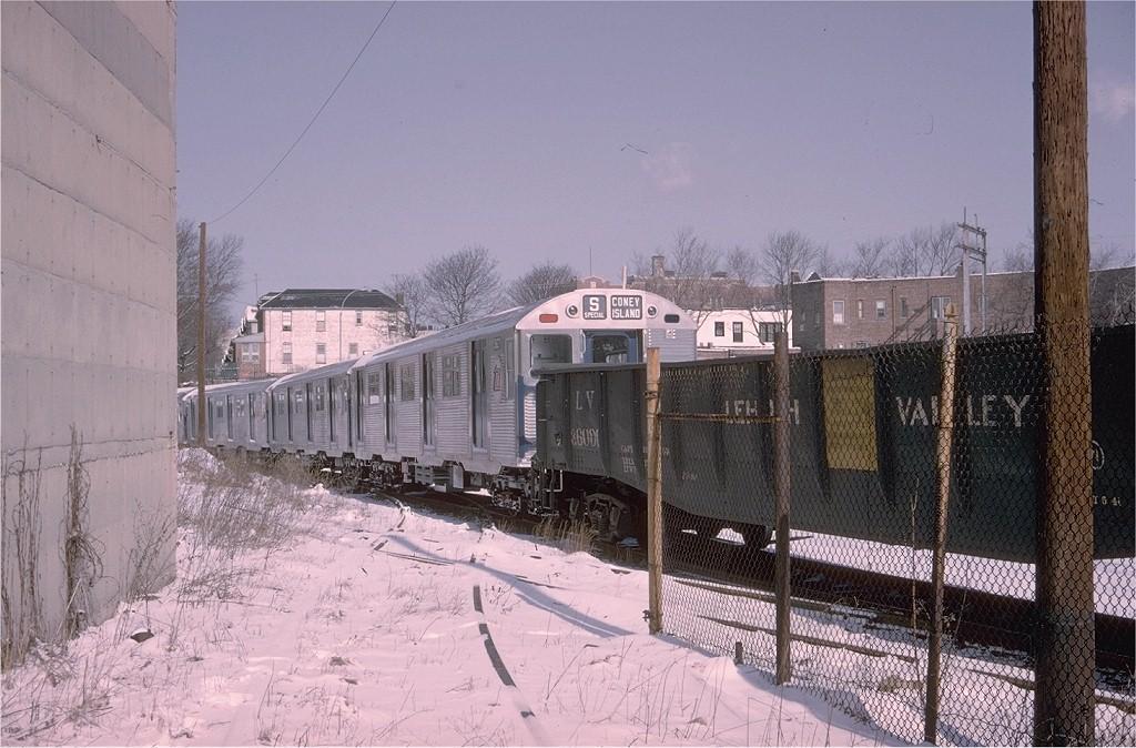 (212k, 1024x674)<br><b>Country:</b> United States<br><b>City:</b> New York<br><b>System:</b> New York City Transit<br><b>Location:</b> LIRR Parkville Jct<br><b>Car:</b> R-32 (Budd, 1964)  3627 <br><b>Photo by:</b> Doug Grotjahn<br><b>Collection of:</b> Joe Testagrose<br><b>Date:</b> 3/21/1965<br><b>Viewed (this week/total):</b> 1 / 4082