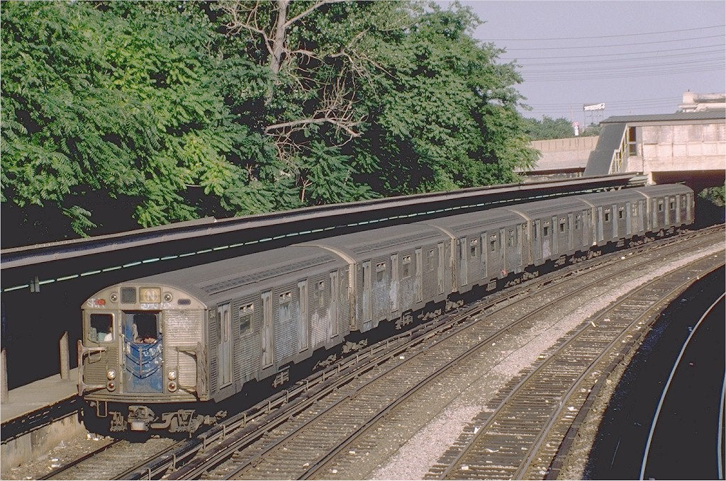 (290k, 1024x679)<br><b>Country:</b> United States<br><b>City:</b> New York<br><b>System:</b> New York City Transit<br><b>Line:</b> BMT Sea Beach Line<br><b>Location:</b> 8th Avenue <br><b>Route:</b> N<br><b>Car:</b> R-32 (Budd, 1964)  3640 <br><b>Photo by:</b> Steve Zabel<br><b>Collection of:</b> Joe Testagrose<br><b>Viewed (this week/total):</b> 0 / 4219