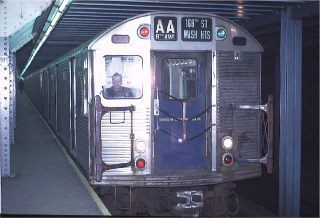 (137k, 1024x697)<br><b>Country:</b> United States<br><b>City:</b> New York<br><b>System:</b> New York City Transit<br><b>Line:</b> IND 8th Avenue Line<br><b>Location:</b> Chambers Street/World Trade Center <br><b>Route:</b> AA<br><b>Car:</b> R-32 (Budd, 1964)  3643 <br><b>Photo by:</b> Joe Testagrose<br><b>Date:</b> 11/25/1970<br><b>Viewed (this week/total):</b> 0 / 4230