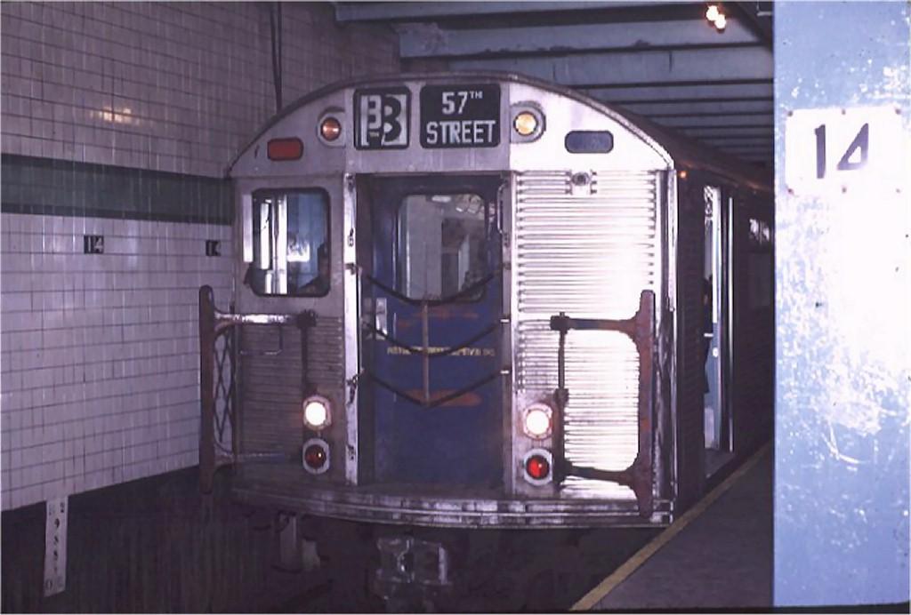 (135k, 1024x692)<br><b>Country:</b> United States<br><b>City:</b> New York<br><b>System:</b> New York City Transit<br><b>Line:</b> IND 6th Avenue Line<br><b>Location:</b> 14th Street <br><b>Route:</b> B<br><b>Car:</b> R-32 (Budd, 1964)  3647 <br><b>Photo by:</b> Joe Testagrose<br><b>Date:</b> 11/14/1970<br><b>Viewed (this week/total):</b> 2 / 4458