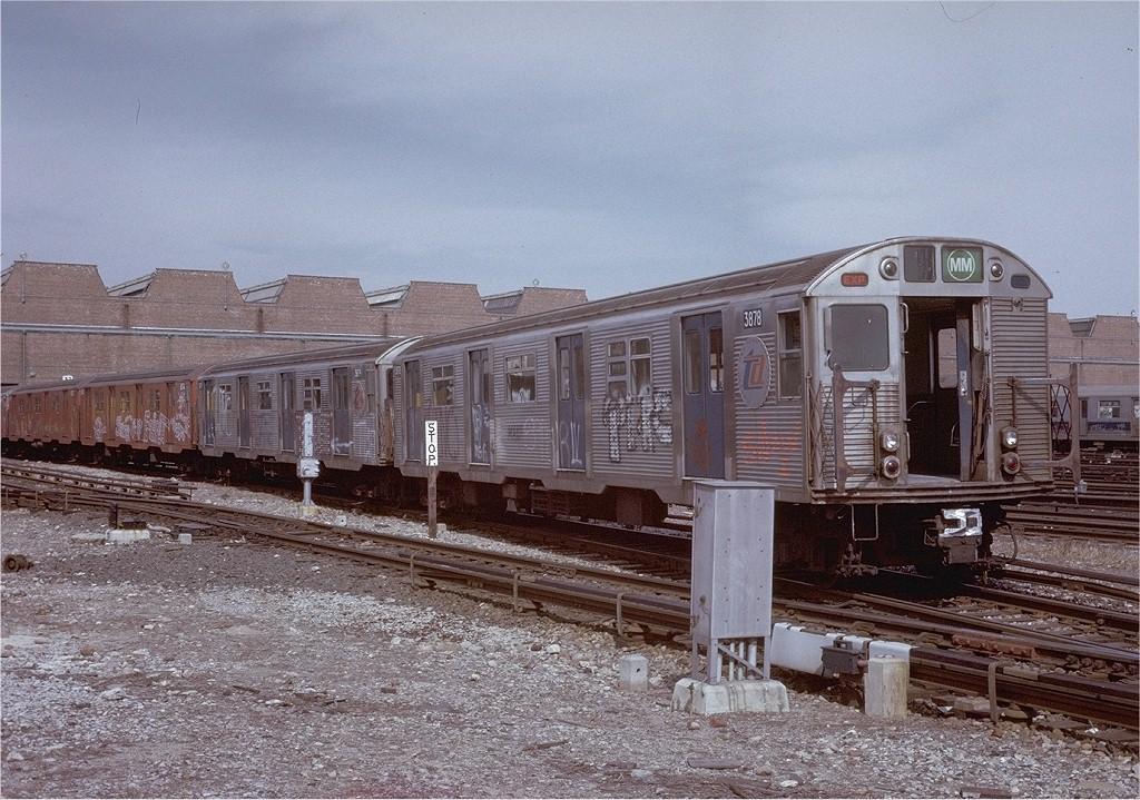 (250k, 1024x719)<br><b>Country:</b> United States<br><b>City:</b> New York<br><b>System:</b> New York City Transit<br><b>Location:</b> Coney Island Yard<br><b>Car:</b> R-32 (Budd, 1964)  3678 <br><b>Photo by:</b> Steve Zabel<br><b>Collection of:</b> Joe Testagrose<br><b>Date:</b> 3/9/1973<br><b>Viewed (this week/total):</b> 9 / 3580