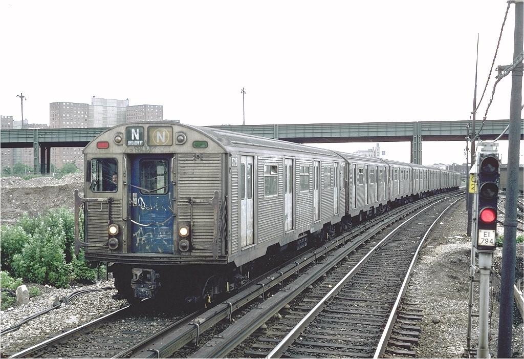 (250k, 1024x701)<br><b>Country:</b> United States<br><b>City:</b> New York<br><b>System:</b> New York City Transit<br><b>Location:</b> Belt Parkway<br><b>Route:</b> N<br><b>Car:</b> R-32 (Budd, 1964)  3723 <br><b>Photo by:</b> Steve Zabel<br><b>Collection of:</b> Joe Testagrose<br><b>Date:</b> 6/14/1982<br><b>Viewed (this week/total):</b> 2 / 4060