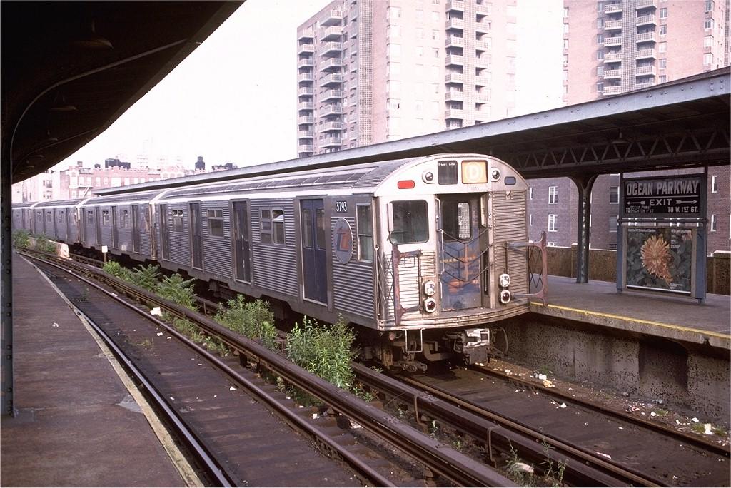 (238k, 1024x684)<br><b>Country:</b> United States<br><b>City:</b> New York<br><b>System:</b> New York City Transit<br><b>Line:</b> BMT Brighton Line<br><b>Location:</b> Ocean Parkway <br><b>Route:</b> D<br><b>Car:</b> R-32 (Budd, 1964)  3793 <br><b>Collection of:</b> Joe Testagrose<br><b>Date:</b> 6/21/1974<br><b>Viewed (this week/total):</b> 3 / 5676