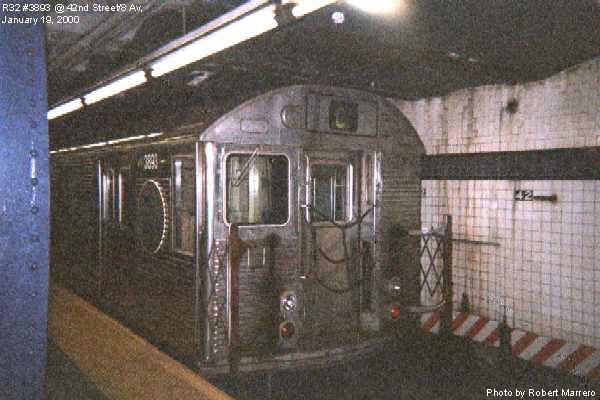 (59k, 600x400)<br><b>Country:</b> United States<br><b>City:</b> New York<br><b>System:</b> New York City Transit<br><b>Line:</b> IND 8th Avenue Line<br><b>Location:</b> 42nd Street/Port Authority Bus Terminal <br><b>Route:</b> C<br><b>Car:</b> R-32 (GE Rebuild) 3893 <br><b>Photo by:</b> Robert Marrero<br><b>Date:</b> 1/19/2000<br><b>Viewed (this week/total):</b> 1 / 10282