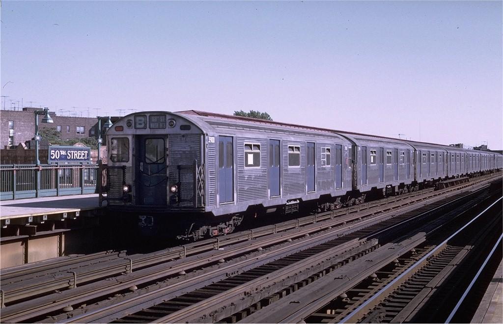 (192k, 1024x660)<br><b>Country:</b> United States<br><b>City:</b> New York<br><b>System:</b> New York City Transit<br><b>Line:</b> BMT West End Line<br><b>Location:</b> 50th Street <br><b>Route:</b> B<br><b>Car:</b> R-32 (Budd, 1964)  3900 <br><b>Photo by:</b> Joe Testagrose<br><b>Date:</b> 8/21/1969<br><b>Viewed (this week/total):</b> 2 / 3010