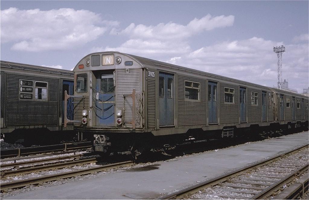 (201k, 1024x664)<br><b>Country:</b> United States<br><b>City:</b> New York<br><b>System:</b> New York City Transit<br><b>Location:</b> Coney Island Yard<br><b>Car:</b> R-32 (Budd, 1964)  3905 <br><b>Photo by:</b> Steve Zabel<br><b>Collection of:</b> Joe Testagrose<br><b>Date:</b> 3/30/1971<br><b>Viewed (this week/total):</b> 4 / 3397