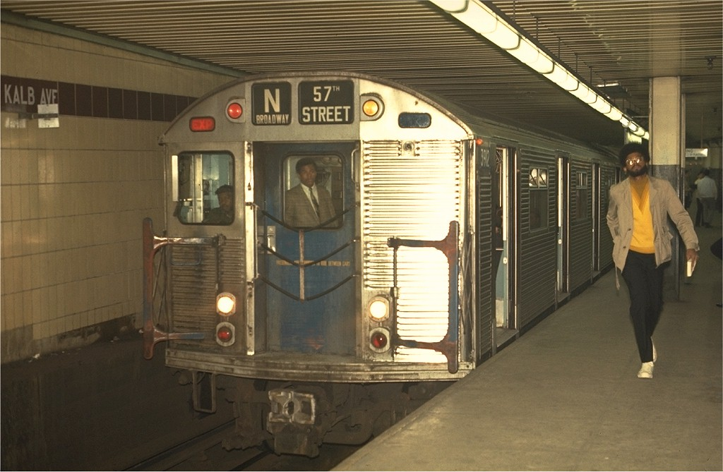(169k, 1024x669)<br><b>Country:</b> United States<br><b>City:</b> New York<br><b>System:</b> New York City Transit<br><b>Location:</b> DeKalb Avenue<br><b>Route:</b> N<br><b>Car:</b> R-32 (Budd, 1964)  3912 <br><b>Photo by:</b> Joe Testagrose<br><b>Date:</b> 5/1/1970<br><b>Viewed (this week/total):</b> 5 / 3973