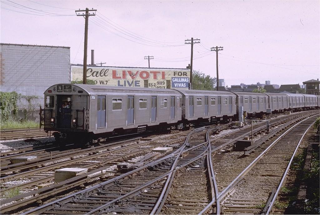 (251k, 1024x690)<br><b>Country:</b> United States<br><b>City:</b> New York<br><b>System:</b> New York City Transit<br><b>Line:</b> BMT Sea Beach Line<br><b>Location:</b> 86th Street <br><b>Route:</b> N<br><b>Car:</b> R-32 (Budd, 1964)  3936 <br><b>Photo by:</b> Joe Testagrose<br><b>Date:</b> 8/20/1969<br><b>Viewed (this week/total):</b> 2 / 4457