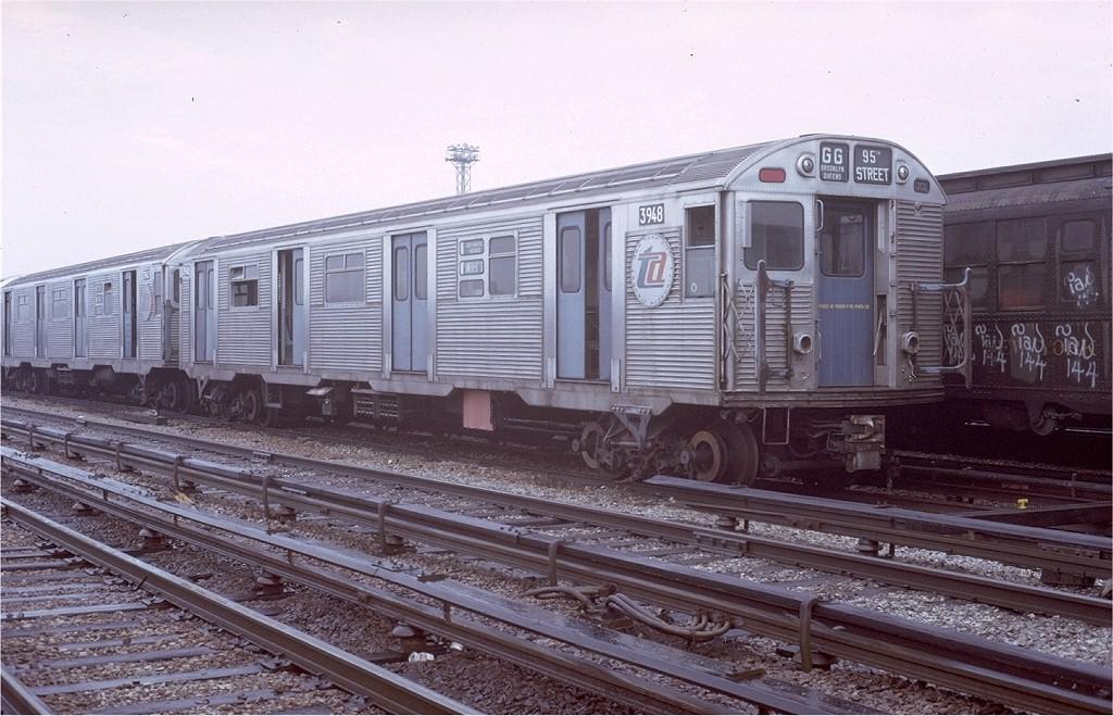 (208k, 1024x659)<br><b>Country:</b> United States<br><b>City:</b> New York<br><b>System:</b> New York City Transit<br><b>Location:</b> Coney Island Yard<br><b>Car:</b> R-32 (Budd, 1964)  3948 <br><b>Photo by:</b> Steve Zabel<br><b>Collection of:</b> Joe Testagrose<br><b>Date:</b> 3/8/1973<br><b>Viewed (this week/total):</b> 2 / 6236