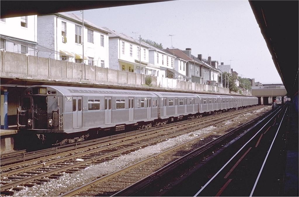 (233k, 1024x673)<br><b>Country:</b> United States<br><b>City:</b> New York<br><b>System:</b> New York City Transit<br><b>Line:</b> BMT Sea Beach Line<br><b>Location:</b> Avenue U <br><b>Route:</b> N<br><b>Car:</b> R-38 (St. Louis, 1966-1967)  3953 <br><b>Photo by:</b> Steve Zabel<br><b>Collection of:</b> Joe Testagrose<br><b>Date:</b> 7/1/1972<br><b>Viewed (this week/total):</b> 4 / 4759
