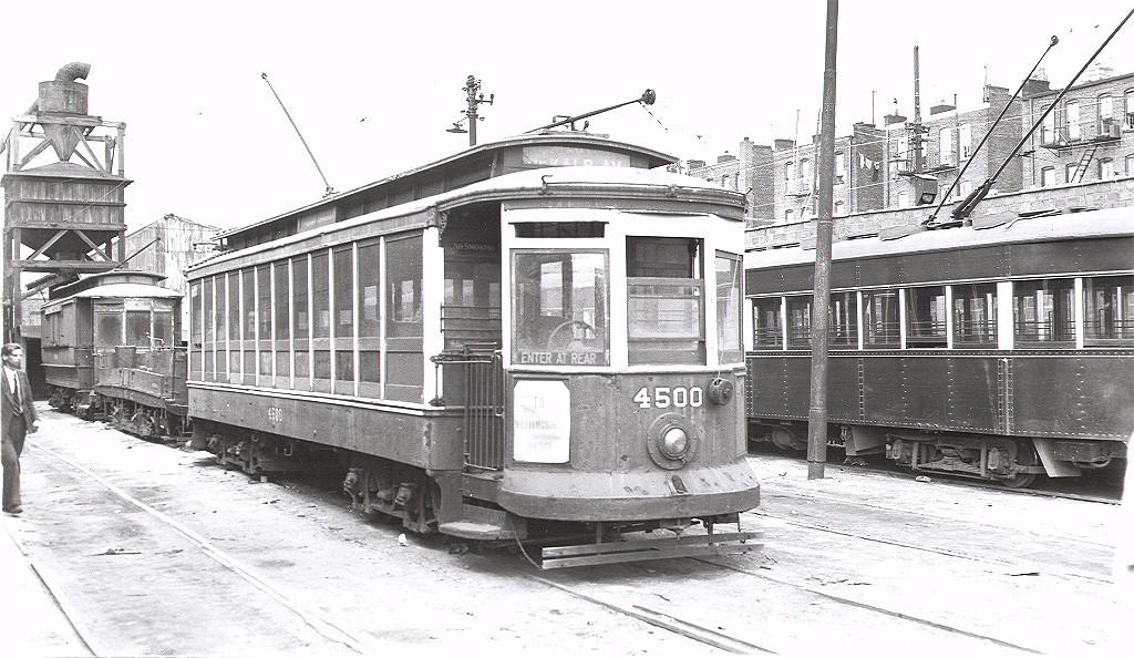 (205k, 1024x594)<br><b>Country:</b> United States<br><b>City:</b> New York<br><b>System:</b> New York City Transit<br><b>Location:</b> Fresh Pond Yard<br><b>Car:</b> B&QT/BMT 4500 <br><b>Photo by:</b> Alfred Seibel Collection<br><b>Collection of:</b> Joe Testagrose<br><b>Viewed (this week/total):</b> 1 / 3150