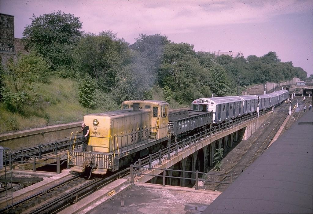 (279k, 1024x700)<br><b>Country:</b> United States<br><b>City:</b> New York<br><b>System:</b> New York City Transit<br><b>Line:</b> BMT West End Line<br><b>Location:</b> 9th Avenue <br><b>Car:</b> GE 70T Locomotive (SBK)  13 <br><b>Photo by:</b> Joel Shanus<br><b>Collection of:</b> David Pirmann<br><b>Viewed (this week/total):</b> 2 / 4122