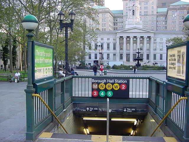(60k, 640x480)<br><b>Country:</b> United States<br><b>City:</b> New York<br><b>System:</b> New York City Transit<br><b>Line:</b> IRT Brooklyn Line<br><b>Location:</b> Borough Hall (East Side Branch) <br><b>Photo by:</b> Salaam Allah<br><b>Date:</b> 9/28/2002<br><b>Notes:</b> Station entrance<br><b>Viewed (this week/total):</b> 2 / 6154