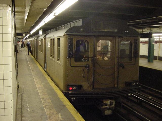 (59k, 640x480)<br><b>Country:</b> United States<br><b>City:</b> New York<br><b>System:</b> New York City Transit<br><b>Line:</b> IND Crosstown Line<br><b>Location:</b> Church Avenue <br><b>Route:</b> Fan Trip<br><b>Car:</b> BMT D-Type Triplex 6112 <br><b>Photo by:</b> Salaam Allah<br><b>Date:</b> 9/22/2002<br><b>Viewed (this week/total):</b> 0 / 2977