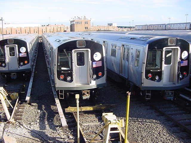 (60k, 640x480)<br><b>Country:</b> United States<br><b>City:</b> New York<br><b>System:</b> New York City Transit<br><b>Location:</b> East New York Yard/Shops<br><b>Car:</b> R-143 (Kawasaki, 2001-2002)  <br><b>Photo by:</b> Salaam Allah<br><b>Date:</b> 9/22/2002<br><b>Viewed (this week/total):</b> 0 / 5150