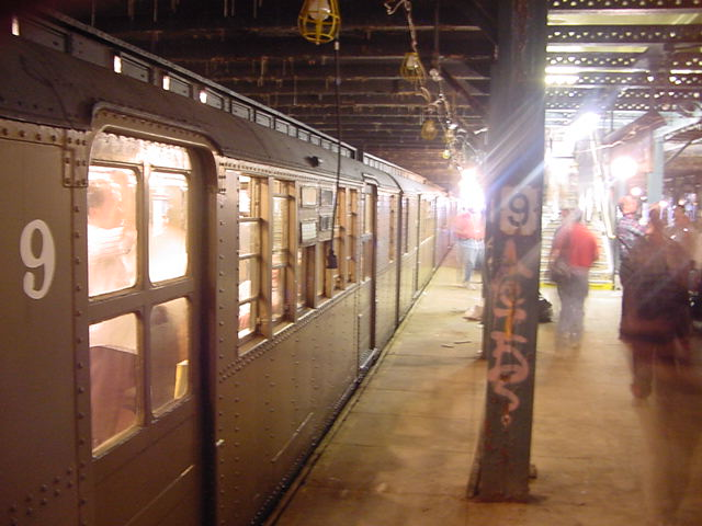 (60k, 640x480)<br><b>Country:</b> United States<br><b>City:</b> New York<br><b>System:</b> New York City Transit<br><b>Line:</b> BMT Culver Line<br><b>Location:</b> 9th Avenue (Lower Level) <br><b>Route:</b> Fan Trip<br><b>Car:</b> BMT D-Type Triplex 6019 <br><b>Photo by:</b> Salaam Allah<br><b>Date:</b> 9/22/2002<br><b>Viewed (this week/total):</b> 4 / 8535