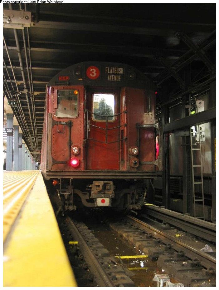 (141k, 702x929)<br><b>Country:</b> United States<br><b>City:</b> New York<br><b>System:</b> New York City Transit<br><b>Line:</b> IRT Brooklyn Line<br><b>Location:</b> Flatbush Avenue <br><b>Route:</b> Fan Trip<br><b>Car:</b> R-33 World's Fair (St. Louis, 1963-64) 9310 <br><b>Photo by:</b> Brian Weinberg<br><b>Date:</b> 12/21/2003<br><b>Viewed (this week/total):</b> 0 / 5959