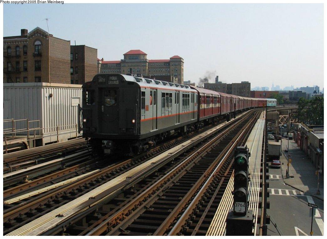 (164k, 1044x763)<br><b>Country:</b> United States<br><b>City:</b> New York<br><b>System:</b> New York City Transit<br><b>Line:</b> IRT Woodlawn Line<br><b>Location:</b> 170th Street <br><b>Route:</b> Fan Trip<br><b>Car:</b> R-12 (American Car & Foundry, 1948) 5760 <br><b>Photo by:</b> Brian Weinberg<br><b>Date:</b> 6/29/2003<br><b>Viewed (this week/total):</b> 2 / 2703