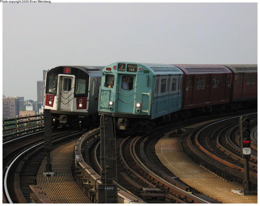 (142k, 1044x828)<br><b>Country:</b> United States<br><b>City:</b> New York<br><b>System:</b> New York City Transit<br><b>Line:</b> IRT Pelham Line<br><b>Location:</b> Whitlock Avenue <br><b>Route:</b> Fan Trip<br><b>Car:</b> R-33 World's Fair (St. Louis, 1963-64) 9306 <br><b>Photo by:</b> Brian Weinberg<br><b>Date:</b> 6/29/2003<br><b>Viewed (this week/total):</b> 1 / 3462