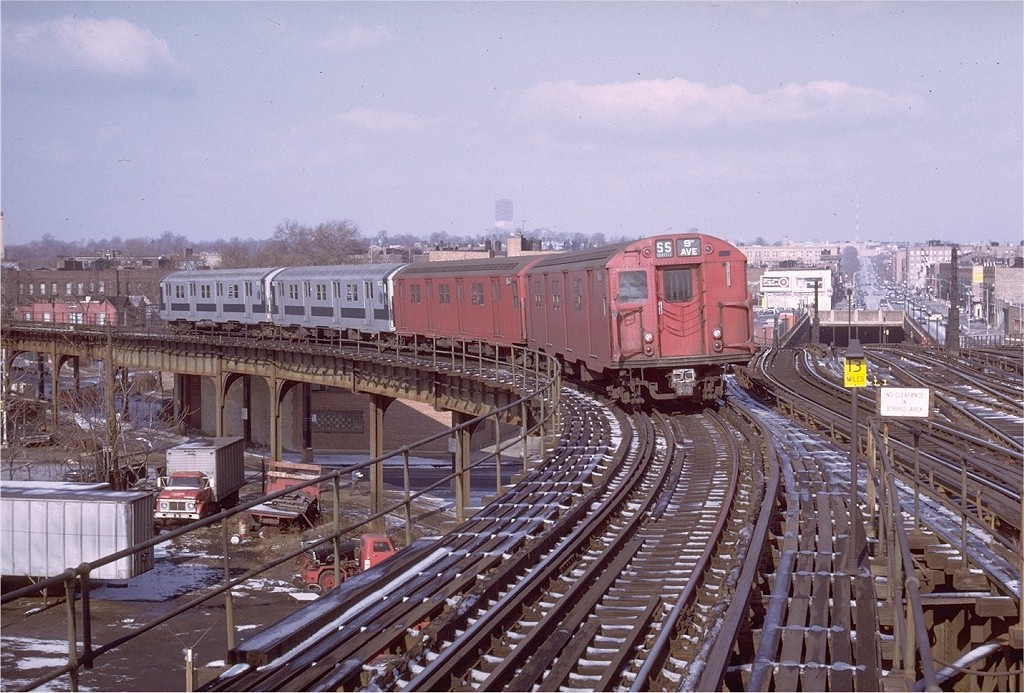 (235k, 1024x693)<br><b>Country:</b> United States<br><b>City:</b> New York<br><b>System:</b> New York City Transit<br><b>Line:</b> BMT Culver Line<br><b>Location:</b> Ditmas Avenue-Shuttle<br><b>Route:</b> Culver Shuttle<br><b>Car:</b> R-27 (St. Louis, 1960)  8146 <br><b>Photo by:</b> Doug Grotjahn<br><b>Collection of:</b> Joe Testagrose<br><b>Date:</b> 12/26/1970<br><b>Viewed (this week/total):</b> 0 / 3651