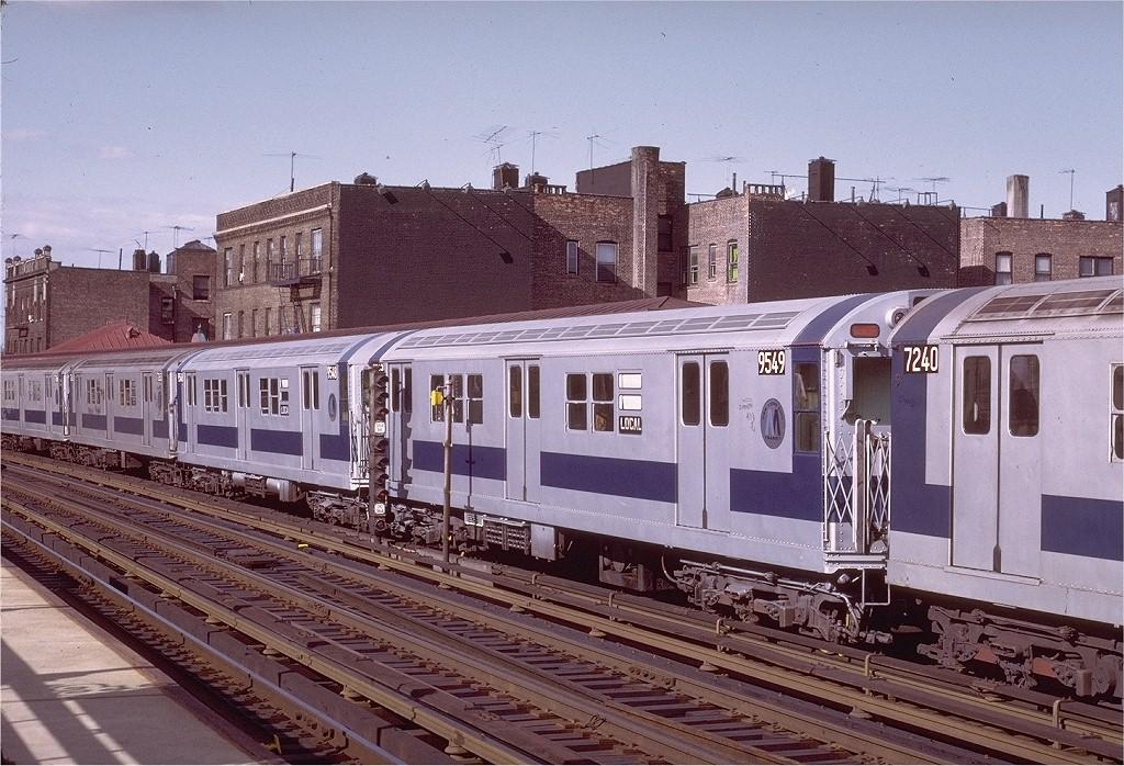(251k, 1024x698)<br><b>Country:</b> United States<br><b>City:</b> New York<br><b>System:</b> New York City Transit<br><b>Line:</b> IRT West Side Line<br><b>Location:</b> 238th Street <br><b>Route:</b> 1<br><b>Car:</b> R-36 Main Line (St. Louis, 1964) 9549 <br><b>Photo by:</b> Joe Testagrose<br><b>Date:</b> 6/10/1972<br><b>Viewed (this week/total):</b> 1 / 3280