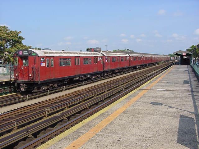 (60k, 640x480)<br><b>Country:</b> United States<br><b>City:</b> New York<br><b>System:</b> New York City Transit<br><b>Line:</b> IRT Flushing Line<br><b>Location:</b> 103rd Street/Corona Plaza <br><b>Route:</b> 7<br><b>Car:</b> R-36 World's Fair (St. Louis, 1963-64) 9447 <br><b>Photo by:</b> Salaam Allah<br><b>Date:</b> 9/24/2002<br><b>Viewed (this week/total):</b> 0 / 2730