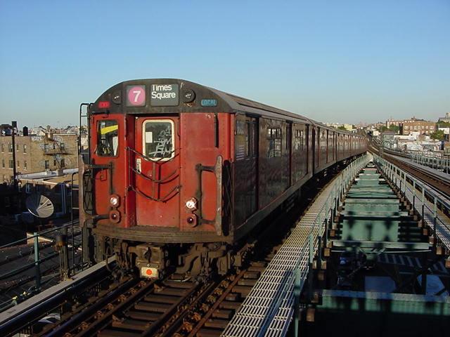 (60k, 640x480)<br><b>Country:</b> United States<br><b>City:</b> New York<br><b>System:</b> New York City Transit<br><b>Line:</b> IRT Flushing Line<br><b>Location:</b> 61st Street/Woodside <br><b>Route:</b> 7<br><b>Car:</b> R-36 World's Fair (St. Louis, 1963-64)  <br><b>Photo by:</b> Salaam Allah<br><b>Date:</b> 9/18/2002<br><b>Viewed (this week/total):</b> 1 / 2719