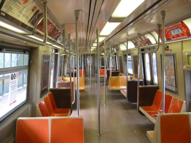 (117k, 640x480)<br><b>Country:</b> United States<br><b>City:</b> New York<br><b>System:</b> New York City Transit<br><b>Car:</b> R-46 (Pullman-Standard, 1974-75) Interior <br><b>Photo by:</b> Oren H.<br><b>Notes:</b> Interior.<br><b>Viewed (this week/total):</b> 0 / 3716