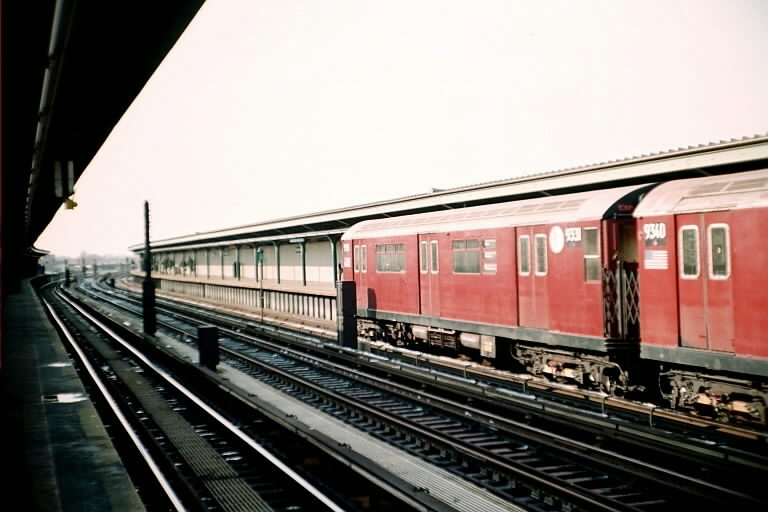 (67k, 768x512)<br><b>Country:</b> United States<br><b>City:</b> New York<br><b>System:</b> New York City Transit<br><b>Line:</b> IND Fulton Street Line<br><b>Location:</b> Rockaway Boulevard <br><b>Route:</b> Fan Trip<br><b>Car:</b> R-33 World's Fair (St. Louis, 1963-64) 9331 <br><b>Photo by:</b> Michael Pompili<br><b>Date:</b> 12/8/2002<br><b>Viewed (this week/total):</b> 1 / 2322