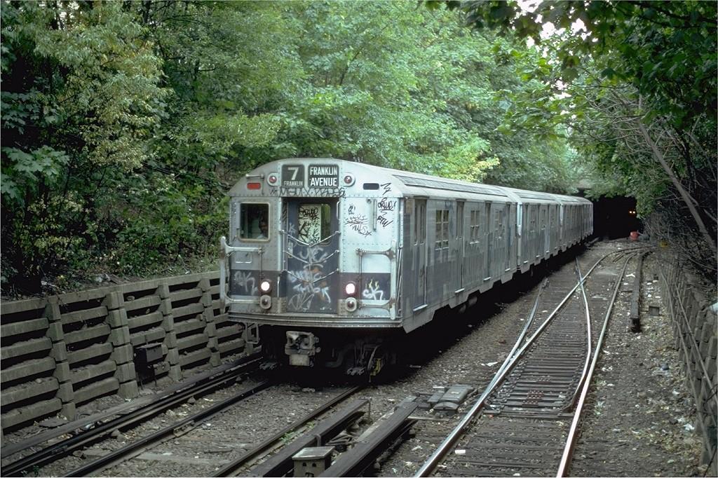 (299k, 1024x682)<br><b>Country:</b> United States<br><b>City:</b> New York<br><b>System:</b> New York City Transit<br><b>Line:</b> BMT Franklin<br><b>Location:</b> Empire Blvd. (Malbone St.) Tunnel Portal <br><b>Route:</b> Franklin Shuttle<br><b>Car:</b> R-30 (St. Louis, 1961) 8569 <br><b>Photo by:</b> Steve Zabel<br><b>Collection of:</b> Joe Testagrose<br><b>Date:</b> 8/22/1981<br><b>Viewed (this week/total):</b> 3 / 4490