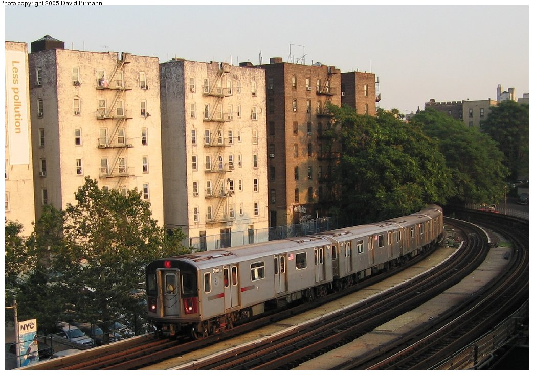 (176k, 1044x734)<br><b>Country:</b> United States<br><b>City:</b> New York<br><b>System:</b> New York City Transit<br><b>Line:</b> IRT Woodlawn Line<br><b>Location:</b> 161st Street/River Avenue (Yankee Stadium) <br><b>Route:</b> 4<br><b>Car:</b> R-142 (Option Order, Bombardier, 2002-2003)  7080 <br><b>Photo by:</b> David Pirmann<br><b>Date:</b> 7/26/2005<br><b>Viewed (this week/total):</b> 2 / 4340