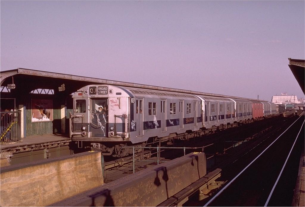 (178k, 1024x697)<br><b>Country:</b> United States<br><b>City:</b> New York<br><b>System:</b> New York City Transit<br><b>Line:</b> BMT Nassau Street/Jamaica Line<br><b>Location:</b> 121st Street <br><b>Route:</b> QJ<br><b>Car:</b> R-30 (St. Louis, 1961) 8527 <br><b>Photo by:</b> Doug Grotjahn<br><b>Collection of:</b> Joe Testagrose<br><b>Date:</b> 12/3/1972<br><b>Viewed (this week/total):</b> 2 / 2973