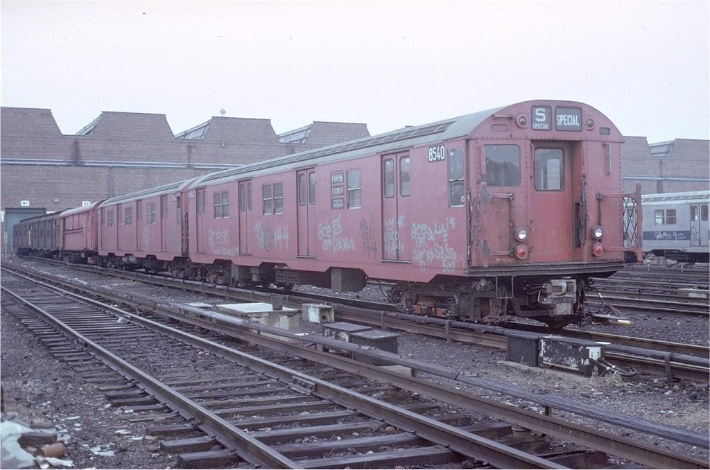 (201k, 1024x678)<br><b>Country:</b> United States<br><b>City:</b> New York<br><b>System:</b> New York City Transit<br><b>Location:</b> Coney Island Yard<br><b>Car:</b> R-30 (St. Louis, 1961) 8540 <br><b>Photo by:</b> Steve Zabel<br><b>Collection of:</b> Joe Testagrose<br><b>Date:</b> 3/15/1973<br><b>Viewed (this week/total):</b> 3 / 3168