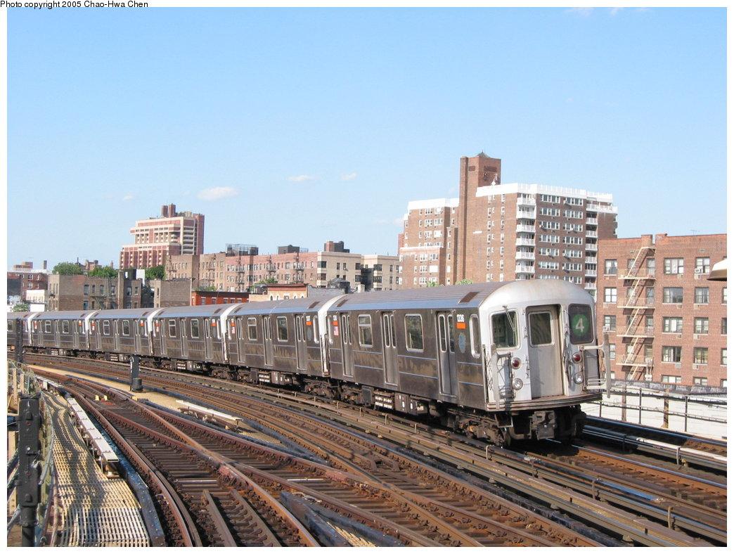 (197k, 1044x788)<br><b>Country:</b> United States<br><b>City:</b> New York<br><b>System:</b> New York City Transit<br><b>Line:</b> IRT Woodlawn Line<br><b>Location:</b> Bedford Park Boulevard <br><b>Route:</b> 4<br><b>Car:</b> R-62 (Kawasaki, 1983-1985)  1336 <br><b>Photo by:</b> Chao-Hwa Chen<br><b>Date:</b> 7/1/2003<br><b>Viewed (this week/total):</b> 3 / 4189