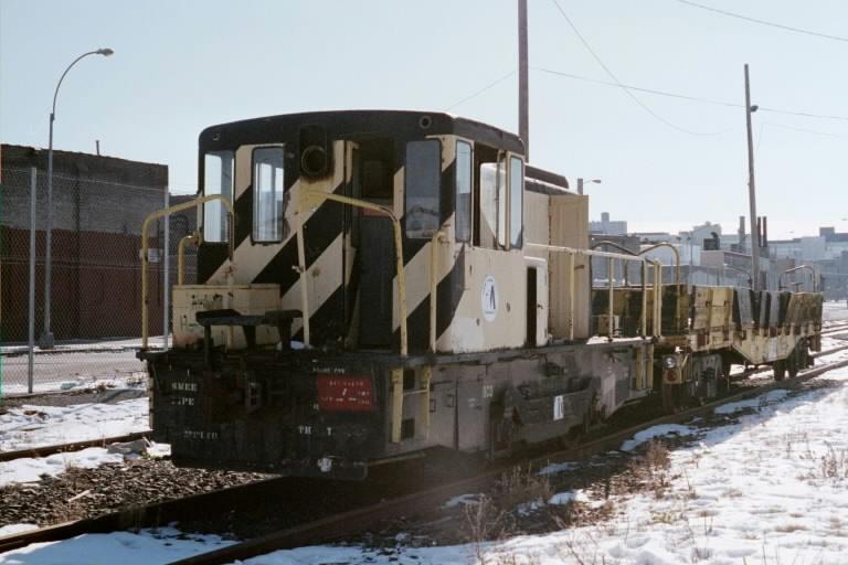 (61k, 768x512)<br><b>Country:</b> United States<br><b>City:</b> New York<br><b>System:</b> New York City Transit<br><b>Line:</b> South Brooklyn Railway<br><b>Location:</b> SBK Yard (2nd Ave at 38th St.) (SBK)<br><b>Car:</b> GE 70-ton Locomotive (orig. for Speno Train)  11 <br><b>Photo by:</b> Michael Pompili<br><b>Date:</b> 1/27/2001<br><b>Viewed (this week/total):</b> 1 / 2947