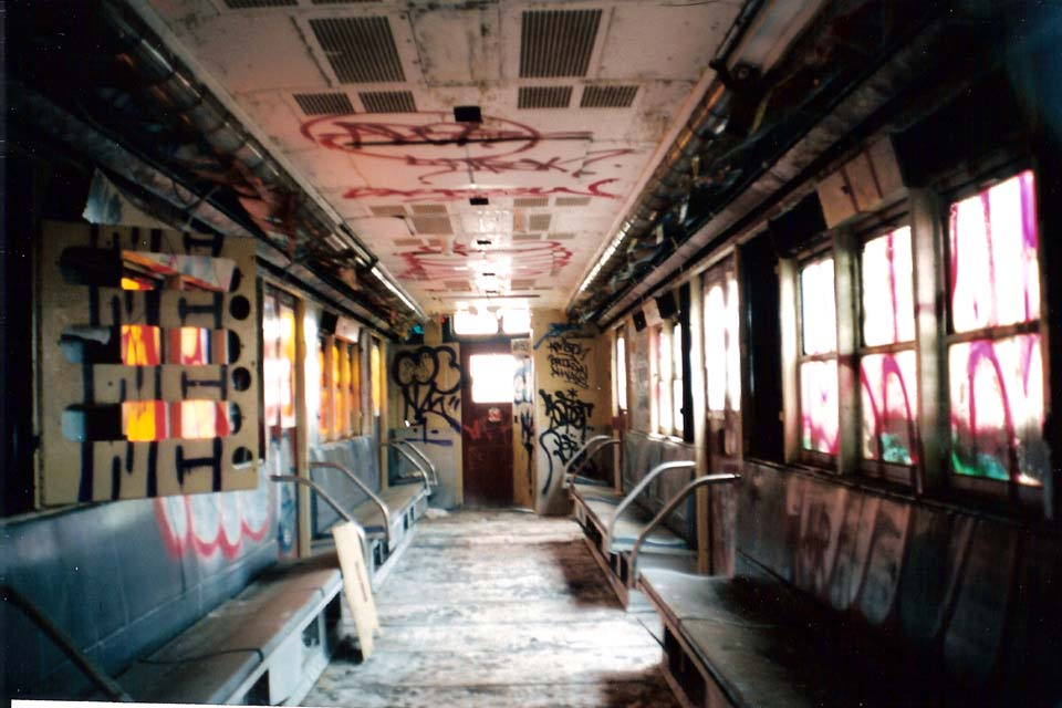 (95k, 960x640)<br><b>Country:</b> United States<br><b>City:</b> New York<br><b>System:</b> New York City Transit<br><b>Line:</b> South Brooklyn Railway<br><b>Location:</b> SBK Yard (2nd Ave at 38th St.) (SBK)<br><b>Car:</b> R-21 (St. Louis, 1956-57) 9306 (ex-7261)<br><b>Photo by:</b> Michael Pompili<br><b>Date:</b> 6/2003<br><b>Viewed (this week/total):</b> 3 / 5366