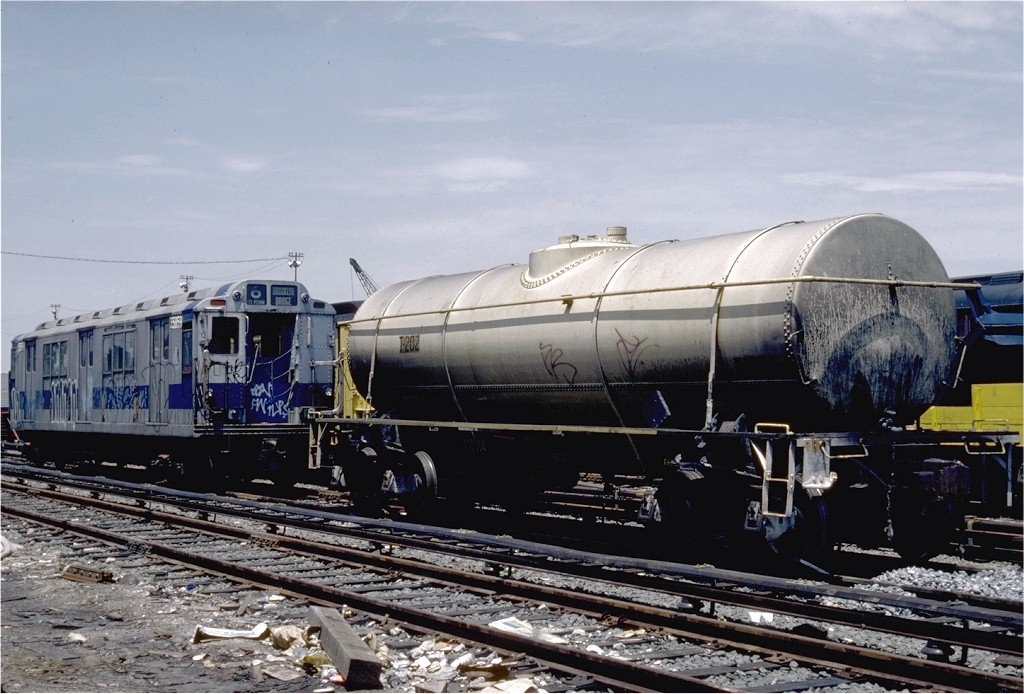 (195k, 1024x694)<br><b>Country:</b> United States<br><b>City:</b> New York<br><b>System:</b> New York City Transit<br><b>Location:</b> 36th Street Yard<br><b>Car:</b> Maintenance of Way Tank (1959, Marshall Rwy. Equip. Co.)  202 <br><b>Photo by:</b> Steve Zabel<br><b>Collection of:</b> Joe Testagrose<br><b>Date:</b> 6/17/1981<br><b>Viewed (this week/total):</b> 1 / 4023