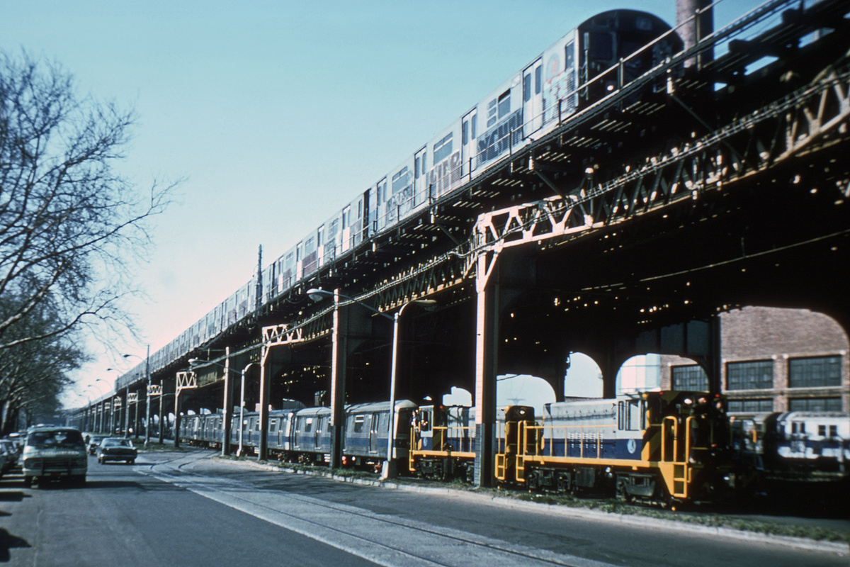 (223k, 1024x654)<br><b>Country:</b> United States<br><b>City:</b> New York<br><b>System:</b> New York City Transit<br><b>Line:</b> South Brooklyn Railway<br><b>Location:</b> McDonald/Ave X (SBK)<br><b>Route:</b> Work Service<br><b>Car:</b> R-47 (SBK) Locomotive  N2 <br><b>Photo by:</b> Steve Zabel<br><b>Collection of:</b> Joe Testagrose<br><b>Date:</b> 4/23/1975<br><b>Viewed (this week/total):</b> 6 / 3732