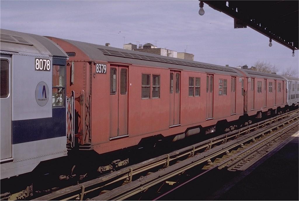 (175k, 1024x690)<br><b>Country:</b> United States<br><b>City:</b> New York<br><b>System:</b> New York City Transit<br><b>Line:</b> BMT Astoria Line<br><b>Location:</b> 36th/Washington Aves. <br><b>Route:</b> RR<br><b>Car:</b> R-30 (St. Louis, 1961) 8379 <br><b>Photo by:</b> Joe Testagrose<br><b>Date:</b> 3/28/1971<br><b>Viewed (this week/total):</b> 0 / 2535