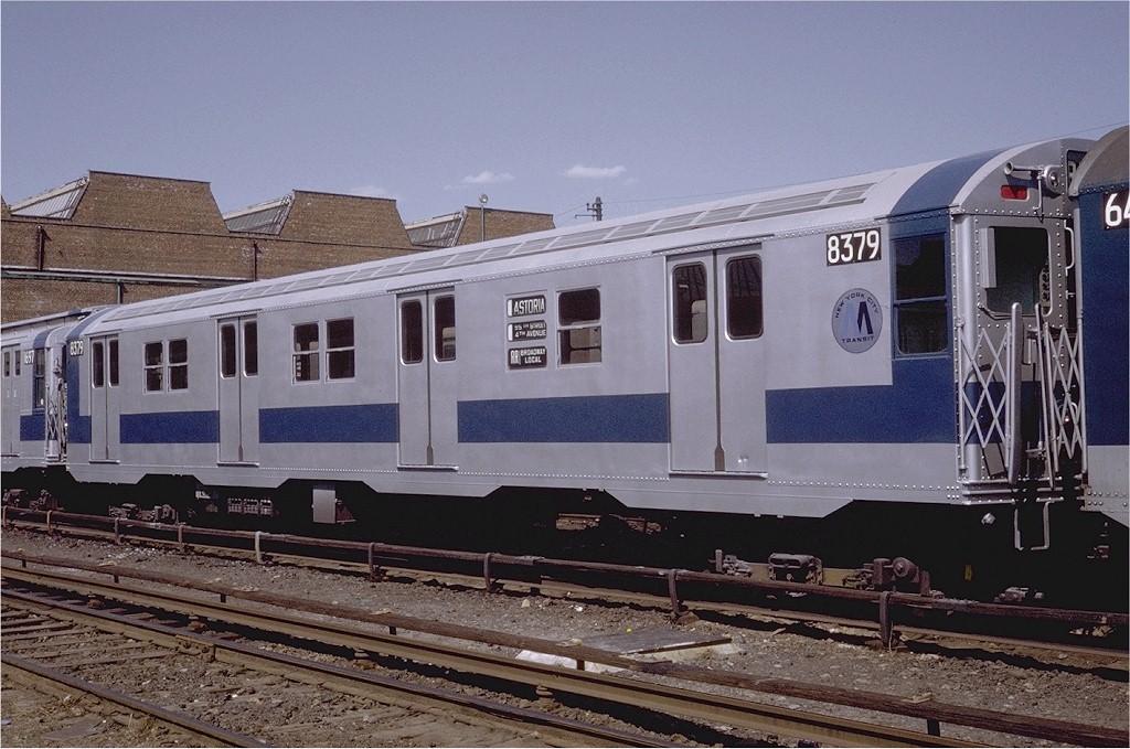(209k, 1024x679)<br><b>Country:</b> United States<br><b>City:</b> New York<br><b>System:</b> New York City Transit<br><b>Location:</b> Coney Island Yard<br><b>Car:</b> R-30 (St. Louis, 1961) 8379 <br><b>Photo by:</b> Steve Zabel<br><b>Collection of:</b> Joe Testagrose<br><b>Date:</b> 4/23/1971<br><b>Viewed (this week/total):</b> 4 / 2333