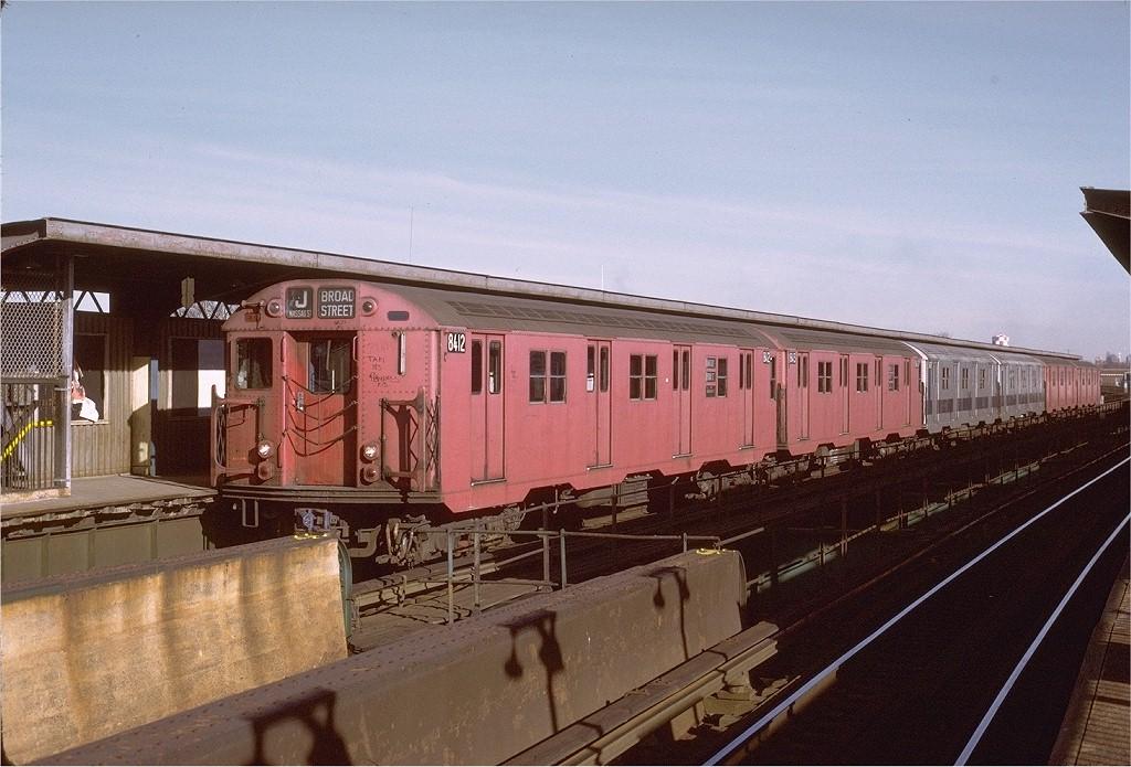 (207k, 1024x695)<br><b>Country:</b> United States<br><b>City:</b> New York<br><b>System:</b> New York City Transit<br><b>Line:</b> BMT Nassau Street/Jamaica Line<br><b>Location:</b> 102nd-104th Streets <br><b>Route:</b> J<br><b>Car:</b> R-30 (St. Louis, 1961) 8412 <br><b>Photo by:</b> Joe Testagrose<br><b>Date:</b> 1/21/1973<br><b>Viewed (this week/total):</b> 3 / 3197