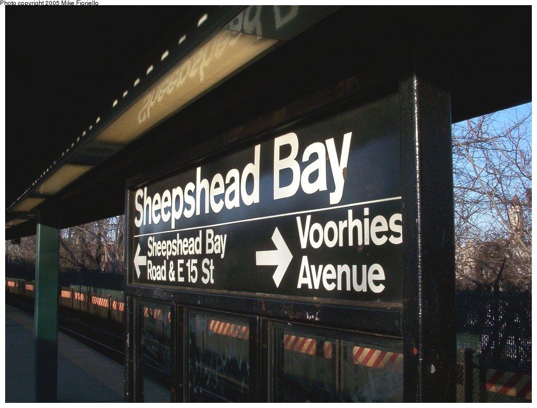 (138k, 1044x793)<br><b>Country:</b> United States<br><b>City:</b> New York<br><b>System:</b> New York City Transit<br><b>Line:</b> BMT Brighton Line<br><b>Location:</b> Sheepshead Bay <br><b>Photo by:</b> Mike Fioriello<br><b>Date:</b> 3/13/2005<br><b>Viewed (this week/total):</b> 2 / 1892