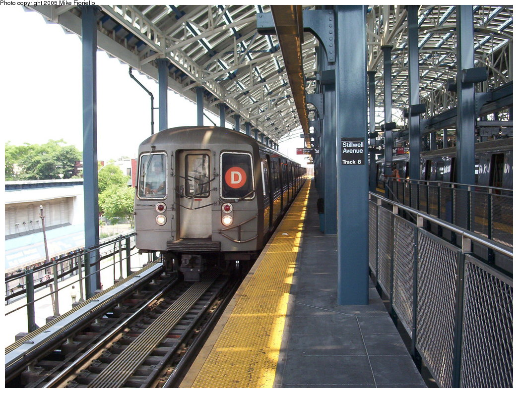 (250k, 1044x793)<br><b>Country:</b> United States<br><b>City:</b> New York<br><b>System:</b> New York City Transit<br><b>Location:</b> Coney Island/Stillwell Avenue<br><b>Route:</b> D<br><b>Car:</b> R-68/R-68A Series (Number Unknown)  <br><b>Photo by:</b> Mike Fioriello<br><b>Date:</b> 6/25/2005<br><b>Viewed (this week/total):</b> 1 / 3777