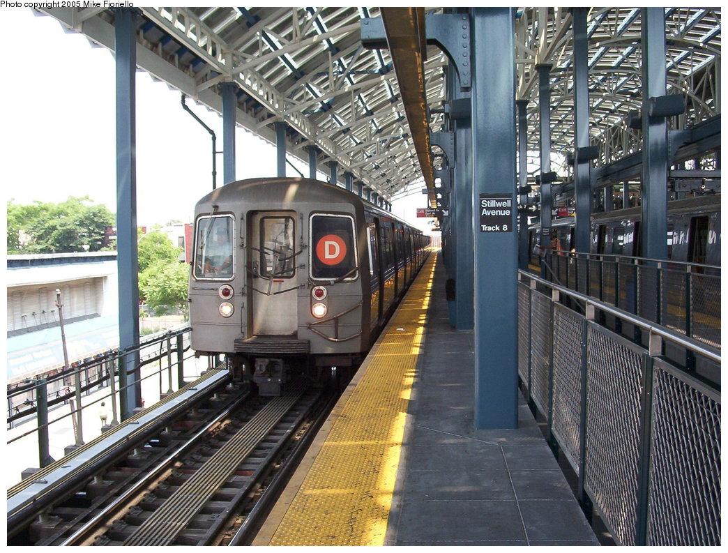 (250k, 1044x793)<br><b>Country:</b> United States<br><b>City:</b> New York<br><b>System:</b> New York City Transit<br><b>Location:</b> Coney Island/Stillwell Avenue<br><b>Route:</b> D<br><b>Car:</b> R-68/R-68A Series (Number Unknown)  <br><b>Photo by:</b> Mike Fioriello<br><b>Date:</b> 6/25/2005<br><b>Viewed (this week/total):</b> 0 / 3766